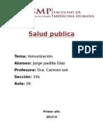 Salud Publica Inmunizacion