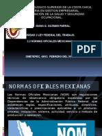 Normas Oficiales Mexicanas.