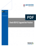Best Practices for Oracle EBS R12 Upgrade