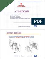 Cortes Secciones DiBUJO