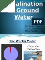Desalination fo Ground Water
