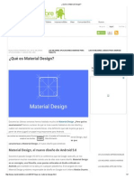 ¿Qué Es Material Design?