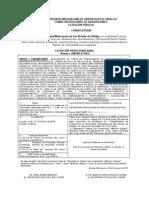 Convocatoria Licitacion 1 2015