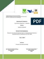 Evaluación Del Manejo Del Papel Generado en El Departamento de Sistemas y Computación Para El Cumplimiento de La ISO 14000
