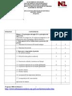 Dosificación Del Programa de Historia I agosto 2009