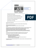 pedalera Korg a5 Manual
