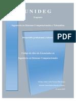 Código de ético de Licenciados en  Ingeniería en Sistemas Computacionales