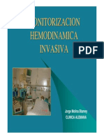 Monitorizacion hemodinamica invasiva