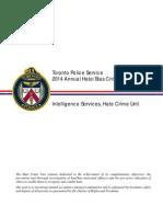 2014 Annual Hate Bias Crime Statistical Report