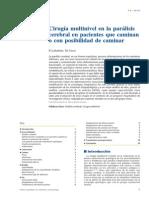 2010 Cirugía Multinivel en La Parálisis Cerebral en Pacientes Que Caminan o Con Posibilidad de Caminar