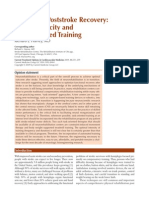 2009 Improving Poststroke Recovery, Neuroplasticity and Task-Oriented Training
