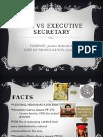 Cmu vs Executive Secretary --Envilaw Digest