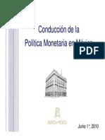Conducción de La Politica Monetaria en Mexico