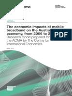 Economic Impacts of Mobile Broadband