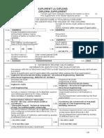 DIPLOMA SUPPLEMENT - Model Engleza 2011