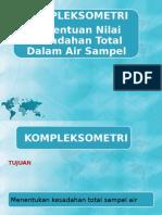 Penentuan Nilai Kesadahan Total Air Sampel dengan Metode Kompleksometri
