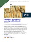 Valuing Folk Crop Diversity