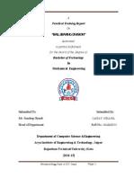 Nbc Training Report - ball bearing division