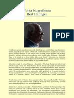 Bert Hellinger - notka biograficzna