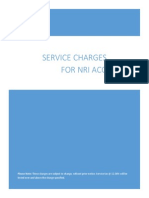 Service Charges for NRI Services