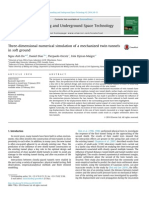 Three-dimensional Numerical Simulation of a Mechanized Twin Tunnels in Soft Ground