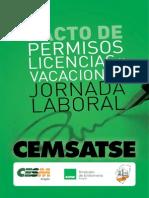 Pacto de Permisos, Licencias, Vacaciones y Jornada Laboral del Salud 2015