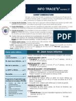 Info-TRACEESS Numéro 27, le 23 mars 2015