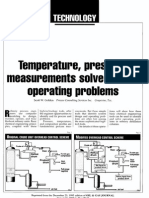 Temperature, Pressure Measurements Solve Column Operating Problems