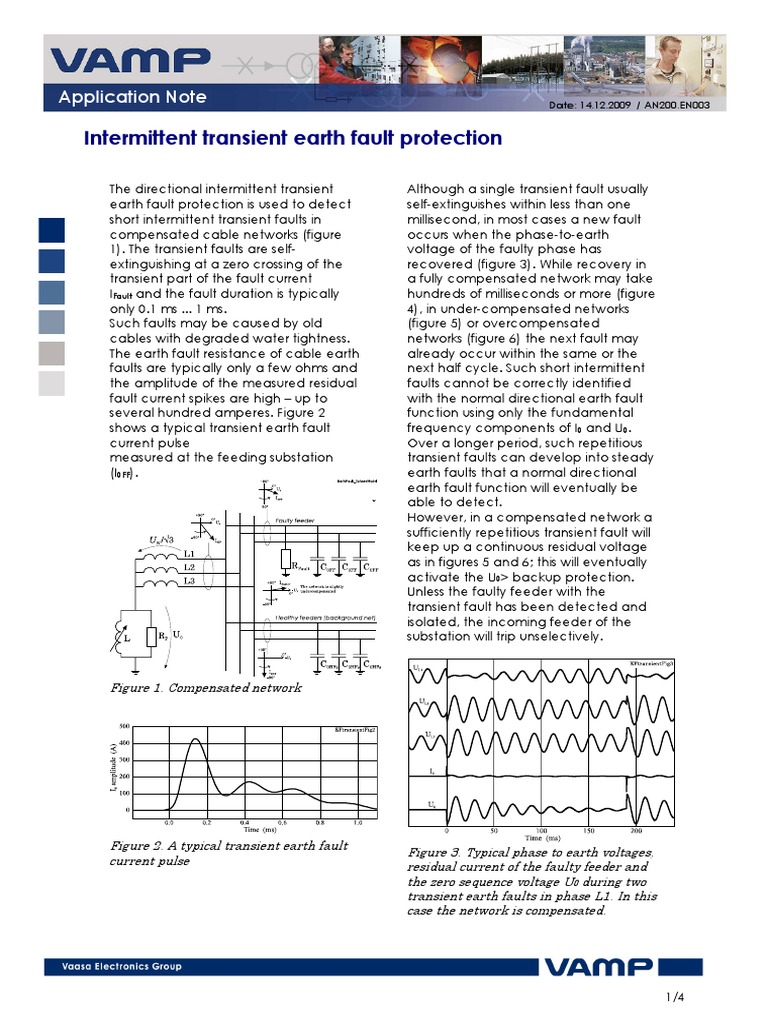 An200 En003 Intermittent Transient Earth Fault Protection