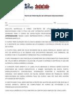 Matrícula e Contrato de Prestação de Serviços Educacionais