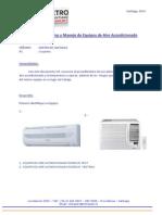 Instructivo Uso y Funcionamiento Equipo de Aire Acondicionado