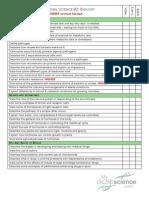 b1 Checklist