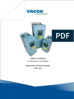Vacon NX OPTBC Resolver Board User Manual UD01039D