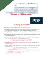 Microsoft Exchange Server 2003 and 2010