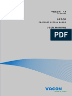Vacon NX OPTCP Profinet IO Board User Manual DPD00