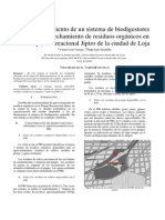 Dimensionamiento de un sistema de biodigestores para el aprovechamiento de residuos orgánicos en el Parque Recreacional Jipiro de la ciudad de Loja