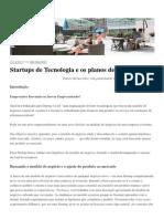 Startups de Tecnologia e os Planos de Negócio