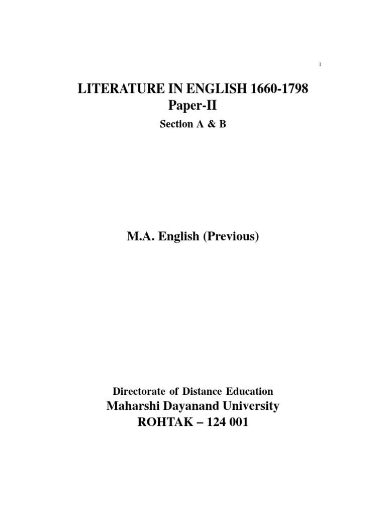 literature in english 1660 1798 final robert burns poetry