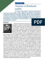 Baudelaire Verlaine Et Rimbaud Les Poetes Maudits