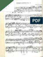 Los tres golpes - Contradanza cubana (para piano)