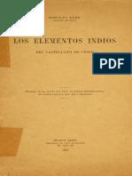 Lenz (1912) Los Elementos Indios Del Castellano de Chile