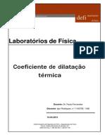 Trabalho laboratorial - dilatação térmica