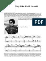 5 Ways to Play Likekj Keith Jarrett