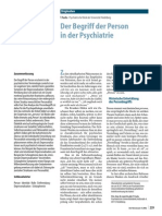 Der Begriff Der Person inder Psychiatrie