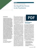Der Begriff Der Person inder Psychiatrie