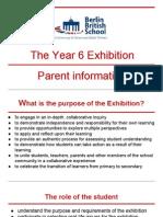 Parent information about the Exhibition 2015