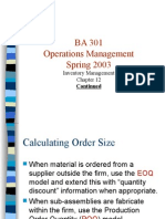 Inventory Management - POQ