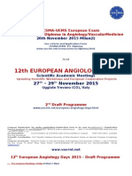 4th CESMA-UEMS European Exam for the  European Diploma in Angiology/VascularMedicine