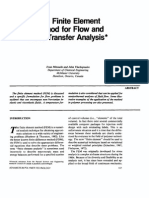The Finite Element Method for Flow and Heat Transfer Analysis