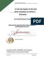 ARTERIAL AfricanCreativeEconomyReport 2009